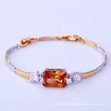 Moda elegante de duas pedras CZ diamante imitação jóias pulseira para as mulheres -71886