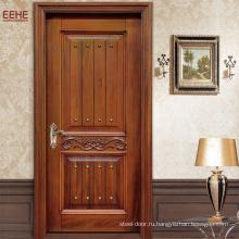 Простой дизайн Твердая деревянная единственная конструкция главной двери качания