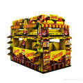 Paper Display Shelf for Food, Pop Advertising Display Stand
