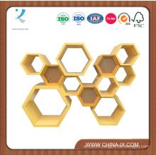 Wooden Modern Honeycomb Display Case