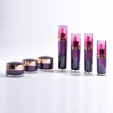 Garrafas acrílicas da garrafa do cilindro com coleção redonda dos frascos (EF-C21)
