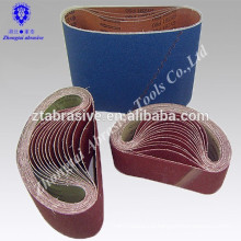 OEM cheap 75*533mm 40#--400# cotton cloth sand belt abrasive belt
