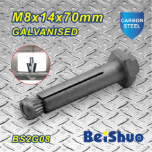 M8X14X70mm Factory Direct Galvanised Heating Expansion Hex Anchor Bolt