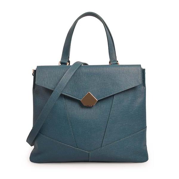 women's genuine leather handbag ladies business casual tote bag