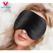 Máscara de ojo desechable del sueño de la impresión del poliéster del color negro