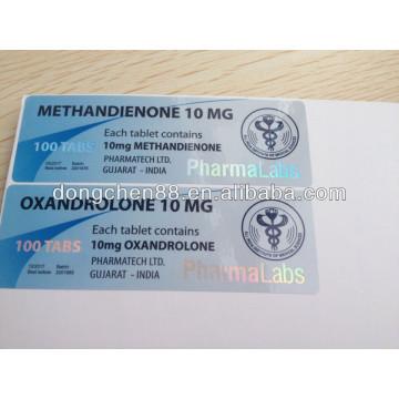 Étiquette de fiole 10ml d'hologramme de prix bon marché fait sur commande de haute qualité