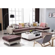 Buen noble Italia sala de estar real mobiliario sofá de tela KW622