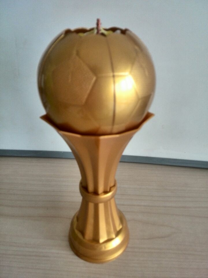 golden footbal music candle