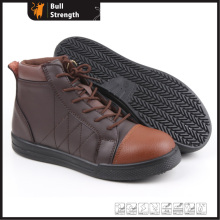 coffee Color Genuine Leather Outdoor Safety Shoe (SN5265)