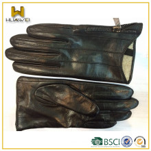 Women delicate hand leather I-touch goatskin leather gloves