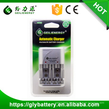 Precio de fábrica de Geilienergy GLE-C802 para AA, AAA, NIMH, cargador de batería universal automotriz de NICD 9V LED