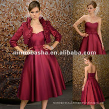 Silky Taffeta Tea Length Mother of Bride Dresses