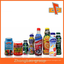 heat shrink wrap PVC shrink sleeve label for tube battery,jelly cup,glass bottle packaging