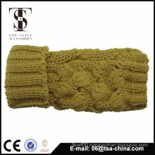 girl warm fingerless knitted gloves