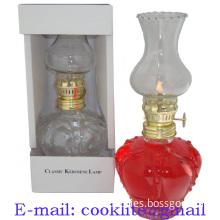 Antique Mini Glass Oil Kerosene Lamp