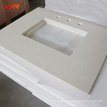 Marble looking solid surface vanity countertop