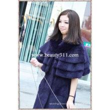 Fah002 OEM venta al por mayor de piel de prendas de vestir de piel de ropa de piel de conejo de piel de visón piel de ropa chaqueta de piel