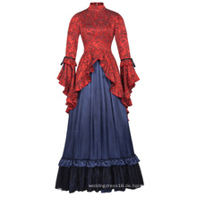 Belle Poque Retro Vintage Steampunk viktorianischen Edwardian Downton Abtei Long Maxi Kleid BP000365-1