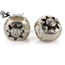 Crystal Pave Round Forma Metal Beads Para Jóias Fazendo DIY Beads Preço por Atacado Latest Design