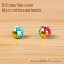 Rainbow Tungsten Reflex Beads Diamond Shaped Beads