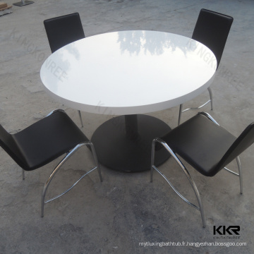 surface solide multifonction grande taille ronde tables de bureau de divertissement