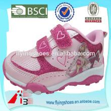 Zapatos altos del deporte de la muchacha de la manera del tobillo alto que bling