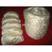100% tussah silk sliver, dessus de soie tussah