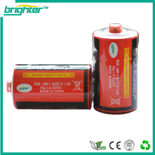 Top sales heavy duty Um1 R20P D size carbon zinc battery for electronic appliance