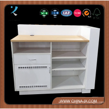 Wooden Checkout Counter with Drawer and Locker