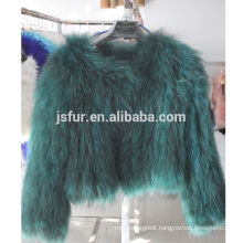 2017 Wholesale Colorful Raccoon Winter Women Fur Jacket