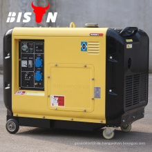 BISON China Taizhou 5000 Watt 5KW CE AC Single Phase 5000w Silent Diesel Generator