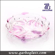 Plaque de couleur et de verre givré aux fleurs (GB1731XM / PDS)