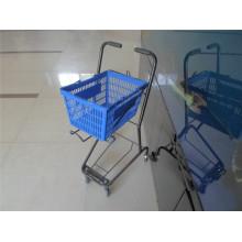 Einkaufswagen-Einkaufswagen-Plastikkorb-Wagen