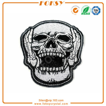 Parches de bordado de applique de Skull Roar