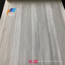 Vente chaude Tissus de rideaux en voile de lin de style naturel