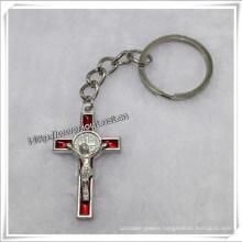 OEM/ODM Cross Key Chain Key Chain with Catholic Crucifix (IO-CK064)