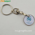 Metal Customzied Keychain Trolley Dengan Lukisan