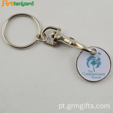 Metal Customzied Trolley Keychain Com Pintura