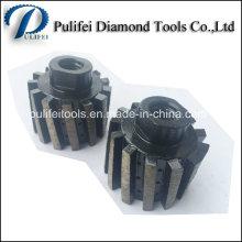 Roue de tambour de segment d'agglomération d'outils de diamant pour l'usage humide
