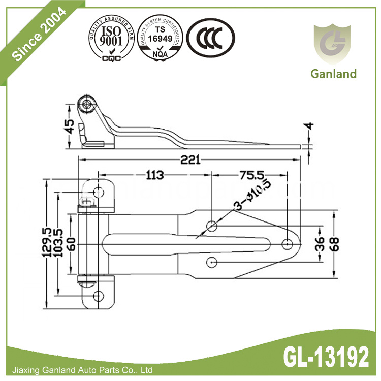 REAR DOOR / CONTAINER HINGES GL-13192