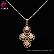 Diseño único 18k de oro colgantes joyería