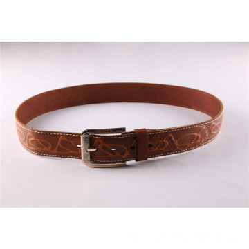 Fashion Men′s Leather Belt with Embossed Patterns