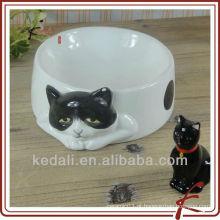 Bacia de gato de cerâmica