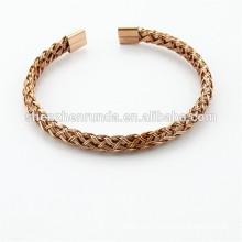 Nouvelle tendance bijoux spirituels en acier, bijoux en acier inoxydable avec or IP, or rose