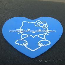 Tapete de carro sem deslizamento de forma de coração, presente para presentes capa de carro não deslizante
