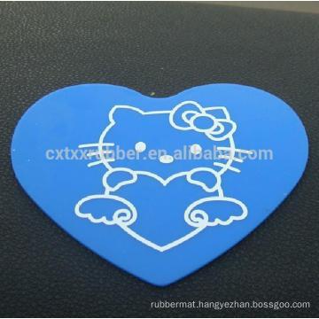 heart shape non slip car mat, gift present non slip car pad