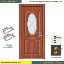 Porte en verre de PVC d'usine de porte de PVC de porte de PVC de toilette