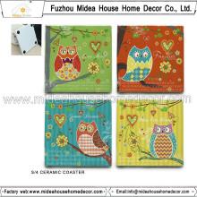 Coaster de cerámica en blanco de encargo caliente de la venta con precio de fábrica