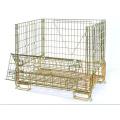Cage de stockage en treillis métallique pliable en métal