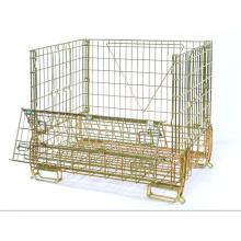 Jaula de almacenamiento de malla de alambre plegable de metal